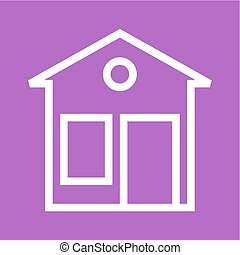 Bungalow - House, building, exterior icon vector image. Can...