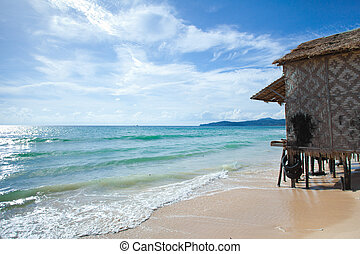 bungalow on clean beach