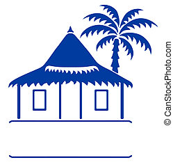 Bungalow sign - Vector llustration of a bungalow and...