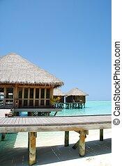 Bungalow\'s architecute on a Maldivian Island