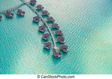 Bungalows from sky