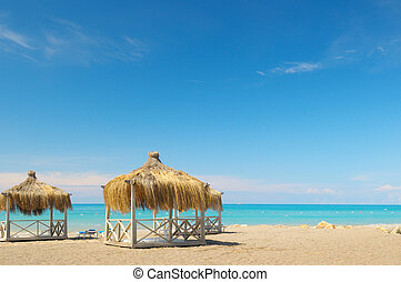 bungalows  in the seaside resort