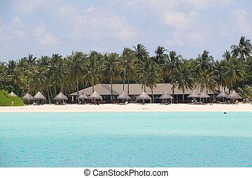 bungalows on Sun Island. Maldives
