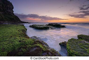 bungan, praia, austrália