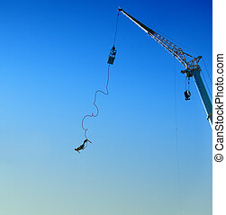 bungee jumping 05 - an action sports thrill seeker after...