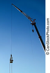 bungee jumping 06 - an action sports thrill seeker prepares...