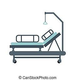 bunk., isolated., 医院, 描述, 矢量, 床, 医学