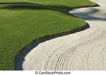 bunker, abstratos, golfe