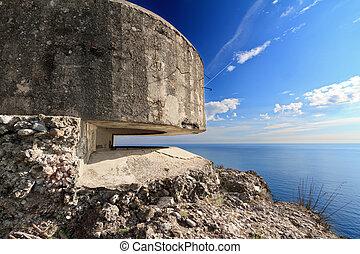 bunker, hen, den, hav