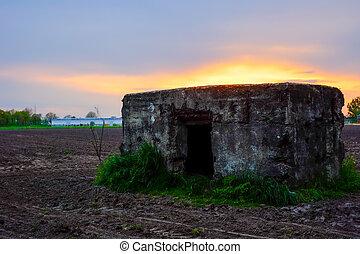 Bunker on the Antwerp Fields