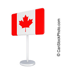 Bunner with flag of Canada.