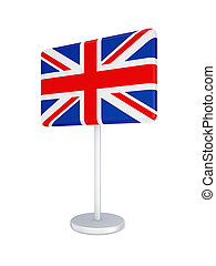 Bunner with flag of Great Britain.