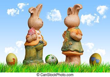 Bunnies, 復活節, 玩具娃娃