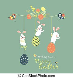 Bunnies and easter eggs - Easter bunnies and easter eggs....