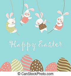 Bunnies and easter eggs - Easter bunnies and easter eggs....