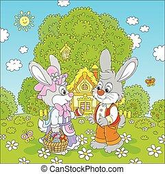 Bunnies on Easter Sunday