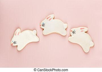 bunny, 糖, cookies.