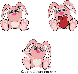 bunny baby cartoon set10 - bunny baby cartoon set in vector...