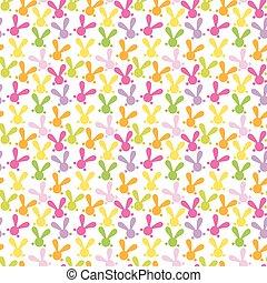bunny., coloré, modèle, seamless, vecteur, paques