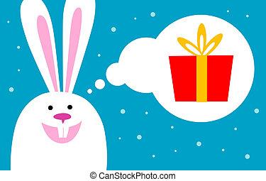 bunny dreams of gift
