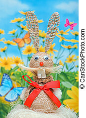 Bunny easter and spring background