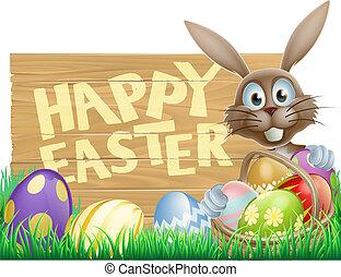 bunny easter, apontar, baixo