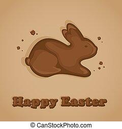 bunny easter, chocolate