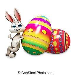 bunny easter, com, polegares cima