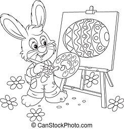bunny easter, pintor