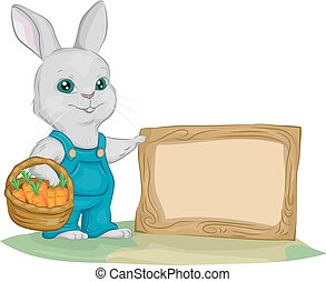 Bunny Garden Board Illustration