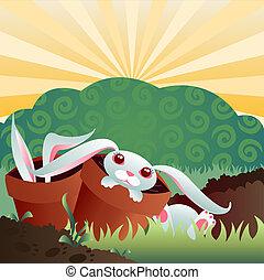 Bunny Garden - Bunnies in the garden... they\'re cute......