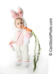 Bunny girl - Cute young toddler girl wearing a bunny rabbit...