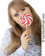 Bunny Girl Holding Lollipop