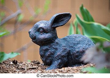 Bunny ornament in the garden