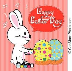 bunny paint egg