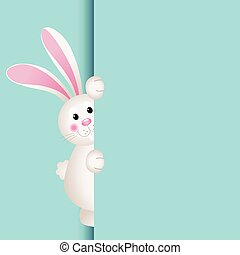 Bunny peeking out - Scalable vectorial image representing a...