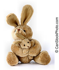 Furry, cuddly, lovable little rabbit toys.