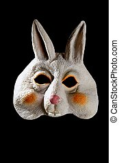 bunny rabbit funny mask - Bunny rabbit funny mask isolated...