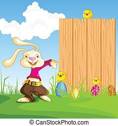 Bunny showing Blank Board