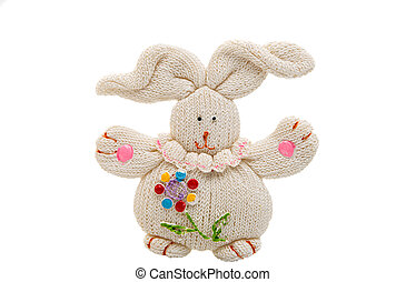 Bunny toy isolated