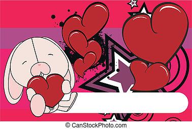 bunny valentine plush background