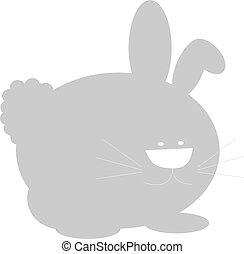 Bunny vector color illustration.
