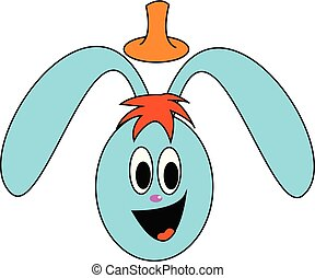 Bunny, vector or color illustration.
