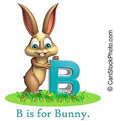 Bunny wild animal with alphabte