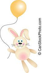 Bunny with Balloon Flying