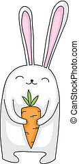 bunny with carrot.eps