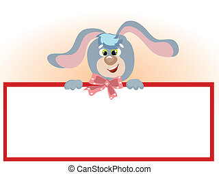 Bunny with frame