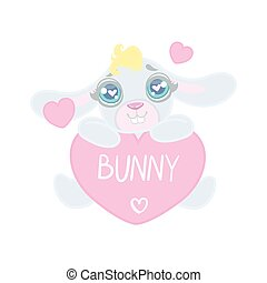 Bunny With Heart Shaped Sign