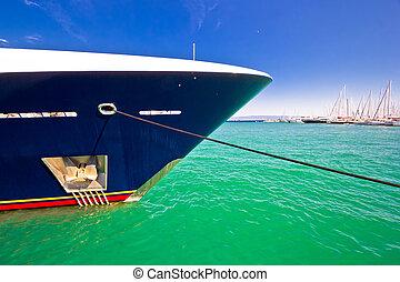 bunte, bug, yacht, luxus, see ansicht