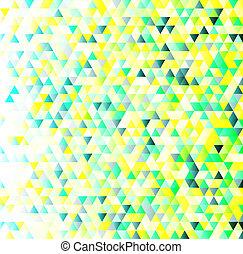 bunte, dreiecke, geometrisches muster